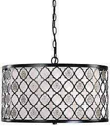 Uttermost Filigree 3-Light Drum Pendant