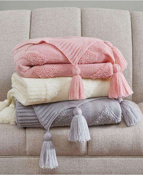 Madison Park Maya 40 X 40 TuftedChevron Throw Blankets Throws Delectable Pink Chevron Throw Blanket