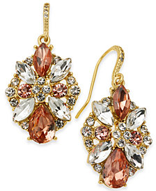Charter Club Multi-Crystal Cluster Drop Earrings, Created for Macy's