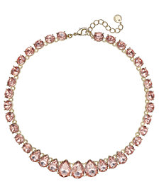 "Charter Club Crystal Collar Necklace, 16"" + 2"" extender, Created for Macy's"