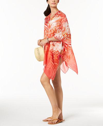 Calvin Klein Tropical Ombré Chiffon Cover-Up