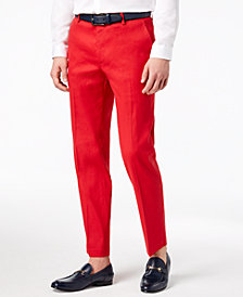 I.N.C. Men's Linen Stretch Slim-Fit Pants, Created for Macy's