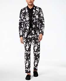I.N.C. Men's Jayden Non-Iron Shirt & Slim-Fit Floral-Print Suit Separates, Created for Macy's
