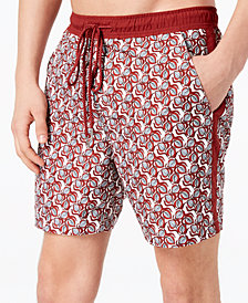 I.N.C. Men's Leafy Printed Swim Trunks, Created for Macy's