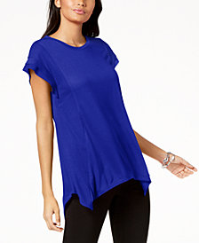 I.N.C. Asymmetrical Contrast-Detail Top, Created for Macy's