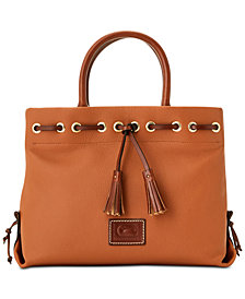 Dooney Bourke Tassel Pebble Leather Tote