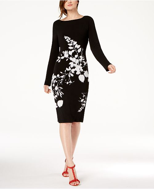4ee5aea7795d INC International Concepts I.N.C. Floral-Print Sheath Dress, Created ...