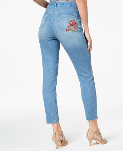 Style & Co Tummy Control Curvy-Fit Skinny Jeans, Created for Macy's