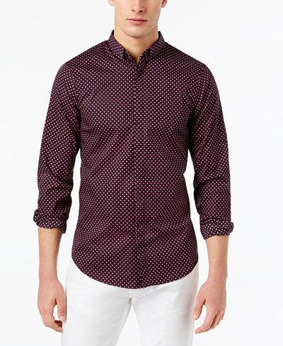 Armani Exchange Men's Slim-Fit Geometric Shirt