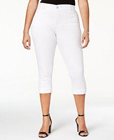 Lee Platinum Plus Size White Slim Cropped Jeans