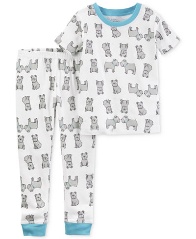 Carter's Little Planet Organics 2-Pc. Dog-Print Cotton Pajama Set, Baby Boys