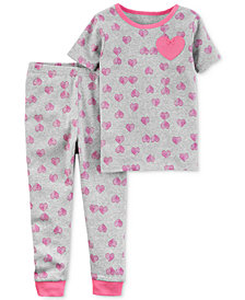 Carter's Little Planet Organics 2-Pc. Hearts Cotton Pajama Set, Baby Girls
