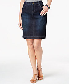 Style & Co Denim Skirt, Created for Macy's
