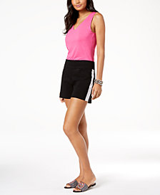 I.N.C. V-Neck Tank Top & Racing-Stripe Shorts, Created for Macy's