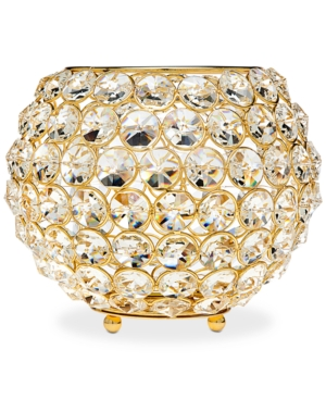 Godinger Lighting by Design Glam 8 GoldTone Ball Crystal Tealight Holder