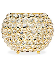 "Lighting by Design Glam Gold-Tone Ball Crystal 10"" Tealight Holder"
