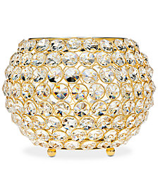 "Godinger Lighting by Design Glam Gold-Tone Ball Crystal 10"" Tealight Holder"