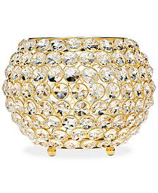 """Godinger Lighting by Design Glam Gold-Tone Ball Crystal 10"""" Tealight Holder"""