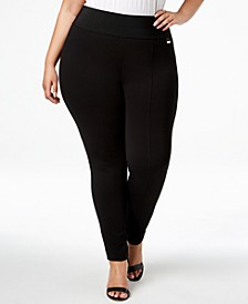 Plus Size Pull-On Skinny Compression Pants