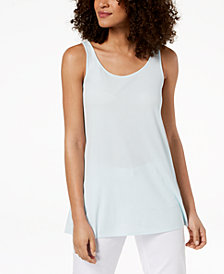 Eileen Fisher Silk Jersey Sleeveless Tunic