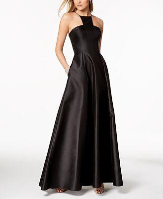 Adrianna Papell Mikado Satin Modern Gown Dresses Women Macy S