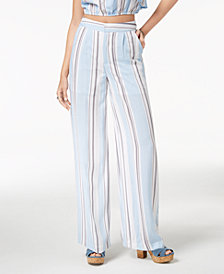 The Edit By Seventeen Juniors' Striped Wide-Leg Pants, Created for Macy's