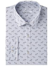 Bar III Men's Wear Me Out Slim-Fit Stretch Easy-Care Stripe Zebra Print Dress Shirt, Created for Macy's
