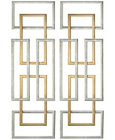 Aerin 2-Pc. Geometric Wall Art Set
