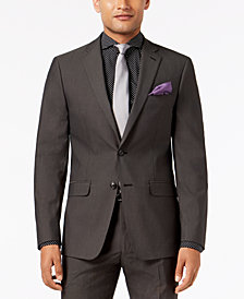 Sean John Men's Slim-Fit Stretch Black/White Neat Suit Jacket