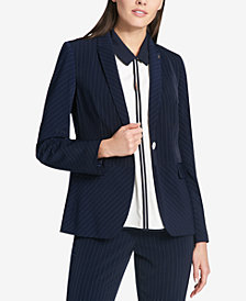 Tommy Hilfiger Striped Peplum Blazer