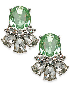 Charter Club Multi-Crystal Drop Earrings, Created for Macy's