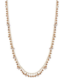 "lonna & lilly Gold-Tone Shaky Disc & Bead Strand Necklace, 32"" + 3"" extender"