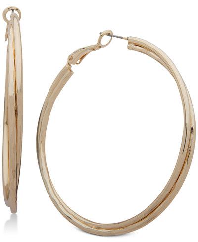 Nine West Double Row Twist Hoop Earrings