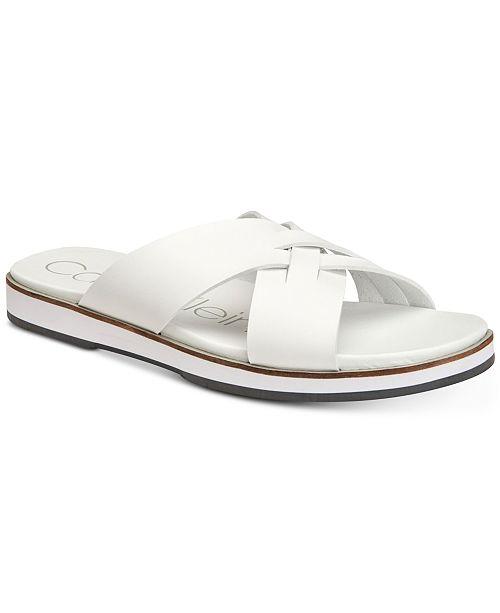 93c6199a077 Calvin Klein Men S Dagan Slide Sandals Reviews All Shoes