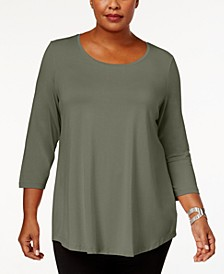 Plus Size Scoopneck Top, Created for Macy's