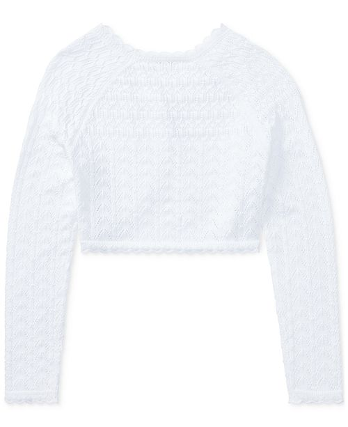 6166735af Polo Ralph Lauren Cropped Cotton Cardigan