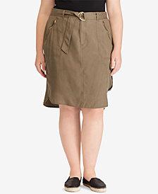 Lauren Ralph Lauren Plus Size Cargo Skirt