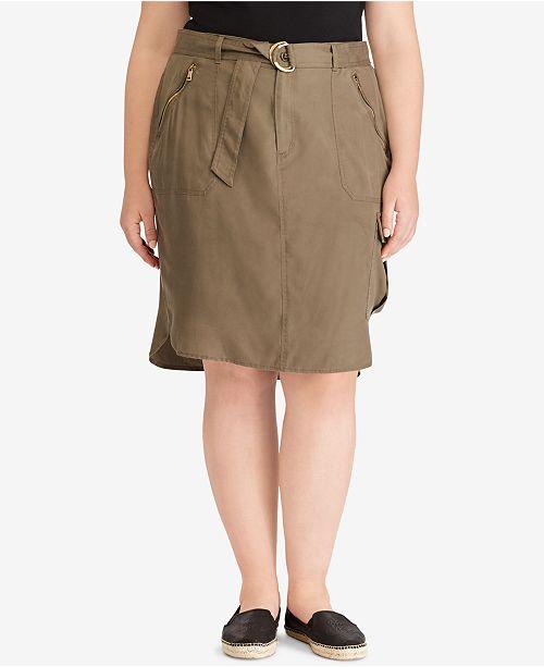 7fb1c7cecbf16 Lauren Ralph Lauren Plus Size Cargo Skirt   Reviews - Skirts - Plus ...