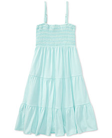 Polo Ralph Lauren Big Girls Smocked-Bodice Dress