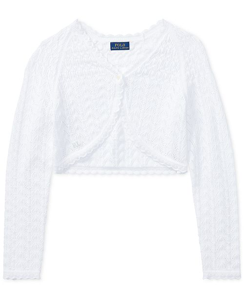 8a1285855 ... Polo Ralph Lauren Cropped Cotton Cardigan