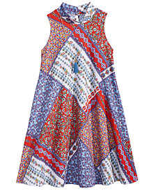 Bonnie Jean 2-Pc. Bandana-Print Shift Dress & Necklace Set, Big Girls