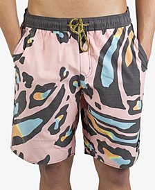 "Neff Men's Wavy Leopard 19"" Board Shorts"