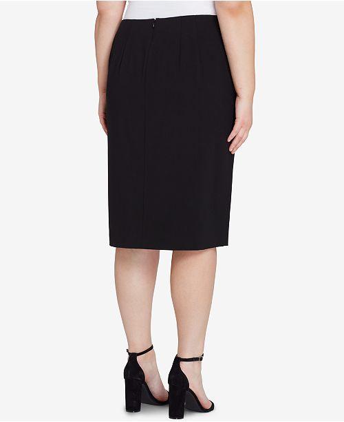 437e909c395 Tahari ASL. Plus Size Asymmetrical-Ruffle Pencil Skirt. 2 reviews. main  image ...