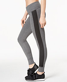 Ideology Mesh-Trimmed Yoga Leggings, Created for Macy's
