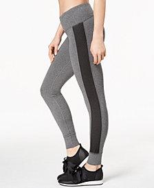 Ideology Mesh-Trimmed Yoga Leggings, Created for Macy's