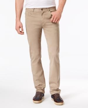DKNY Men's Slim-Straight Fit Stretch Twill Pants
