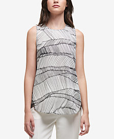 DKNY Printed Georgette Top, Created for Macy's