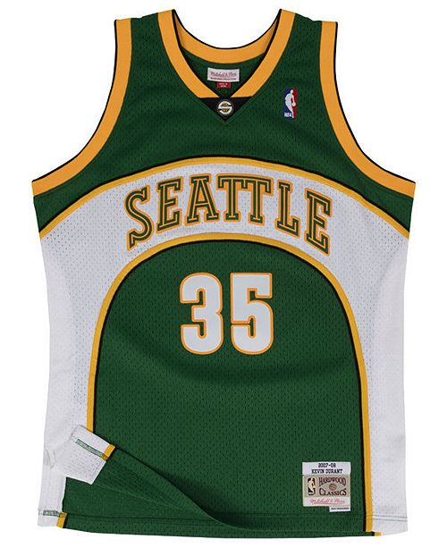 sports shoes b7a95 ad936 Men's Kevin Durant Seattle SuperSonics Hardwood Classic Swingman Jersey