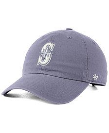 '47 Brand Seattle Mariners Dark Gray CLEAN UP Cap