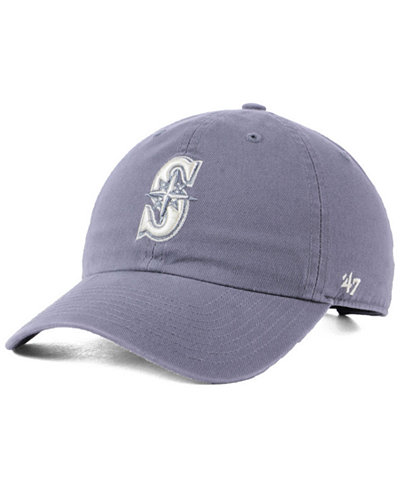 '47 Brand Seattle Mariners Dark Gray CLEAN UP Cap